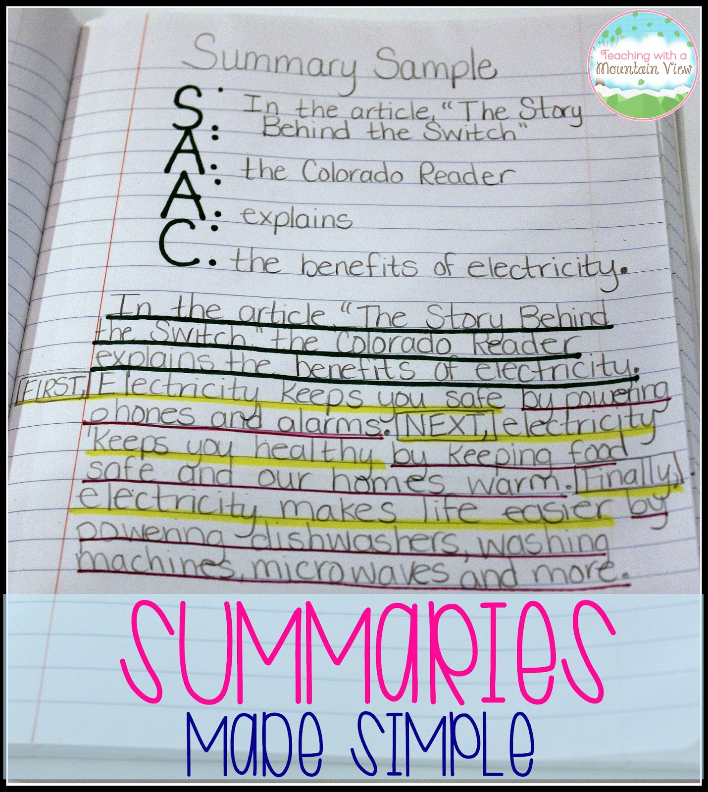 summary writing sample