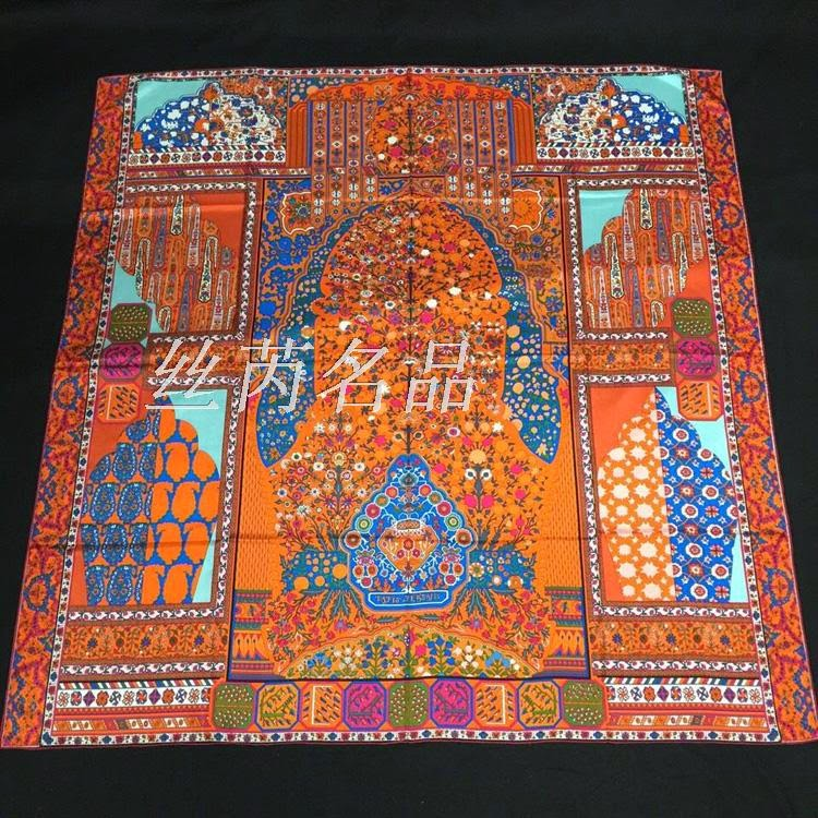 best hermes birkin replica handbags - Love-Bags : Tapis Persans Hermes silk twill giant plume scarf ...
