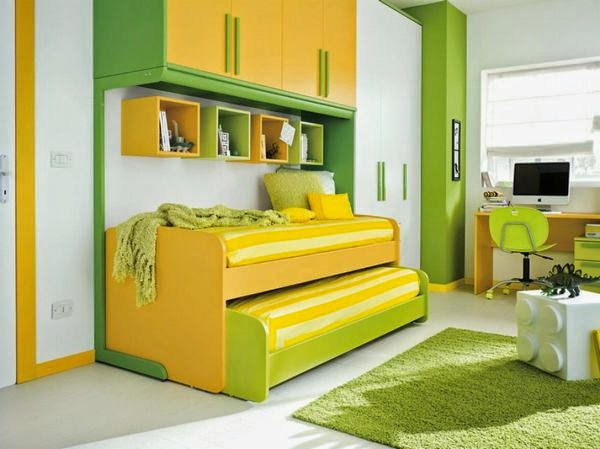 Dormitorios decorados en amarillo y verde dormitorios - Dormitorio verde ...
