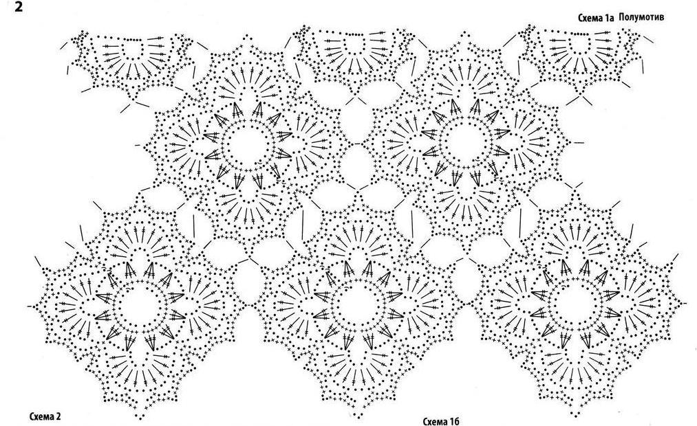 Узоры крючком для летнего платья схемы и описание