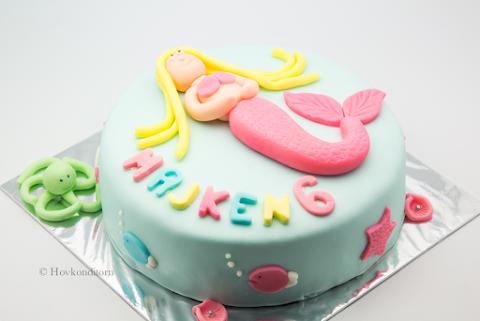 Mermaid Cake / Sjöjungfrutårta