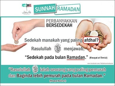 ramadhan, sedekah, puasa, sunnah, rezeki