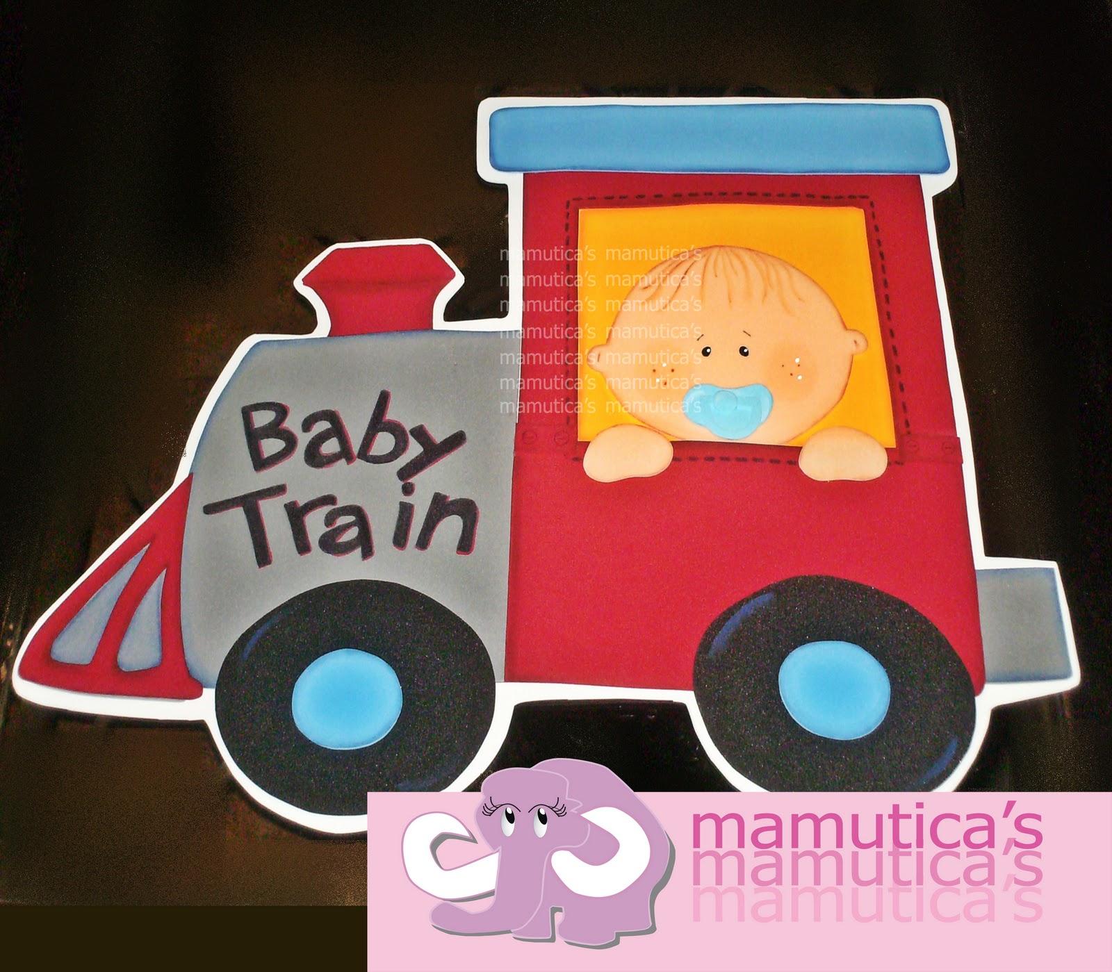 Baby Train  Elaborado En Foami  Medidas  65 X 72 Cms