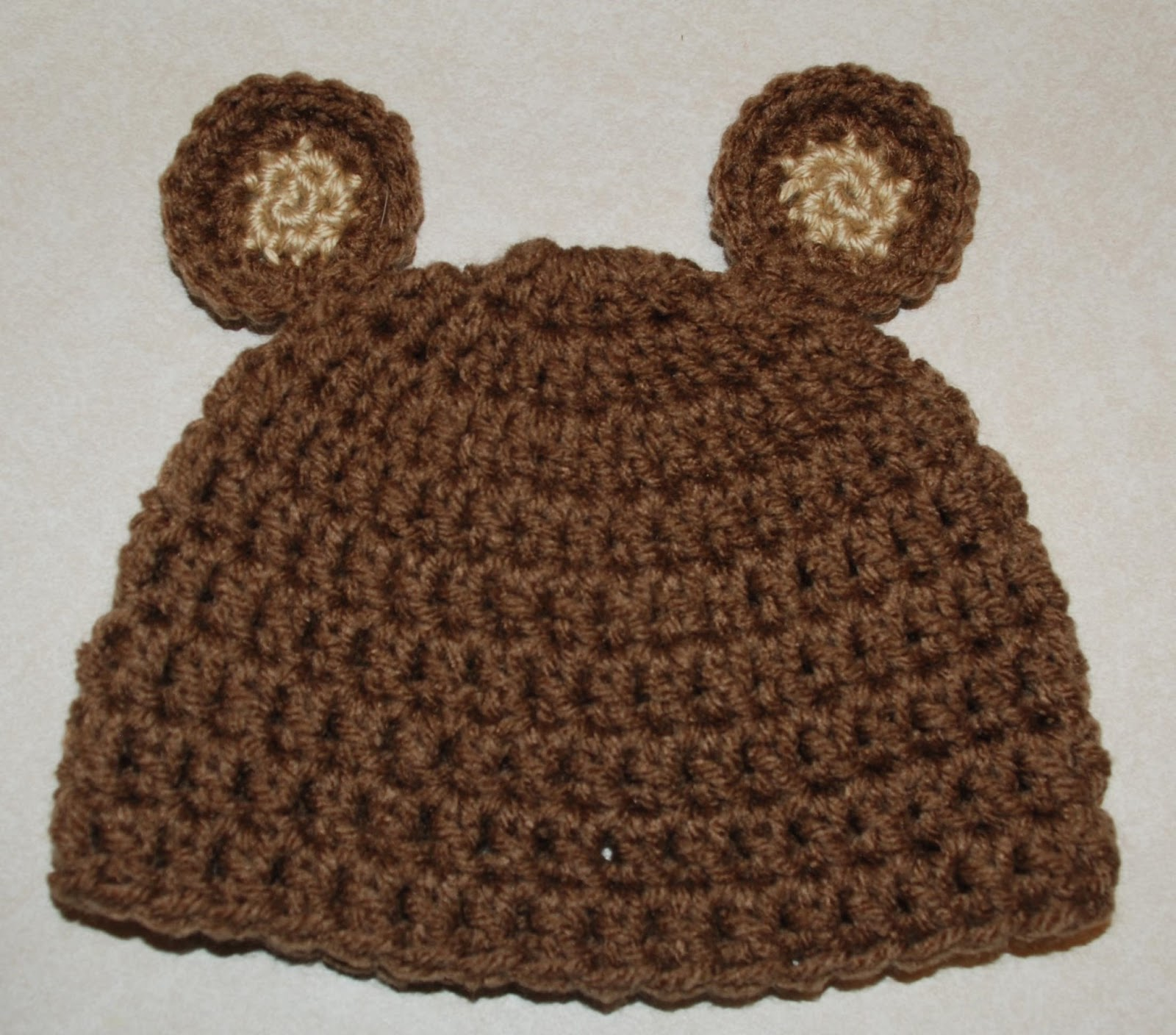Free Crochet Patterns For Baby Bear Hat : Amys Crochet Creative Creations: Crochet Newborn Bear Hat