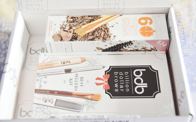 One of my New Year's Resolutions is to improve my makeup skills, and I'm starting the year by tackling a type of makeup that I've always been a bit afraid and reluctant to try: eyebrow makeup! I'm delighted to be working with Billion Dollar Brows to bring you a review of their 60 Seconds to Beautiful Brows Kit and Best Sellers Kit!