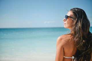 Foto de chica en la playa