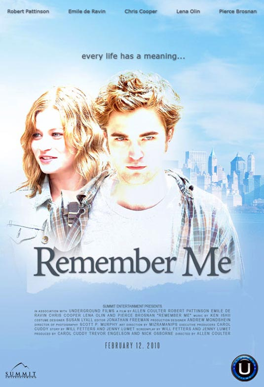 remember me, film, poster, locandina