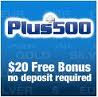 20 USD Forex no deposit binus from plus 500