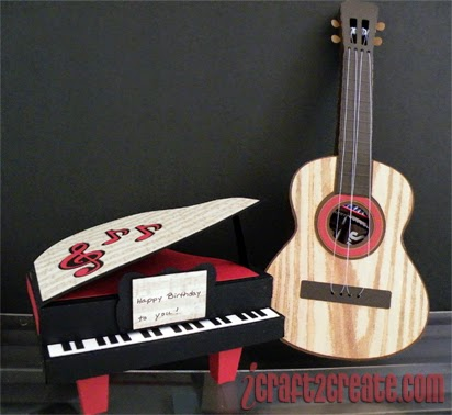 SVGCuts, 3D, Piano, Guitar