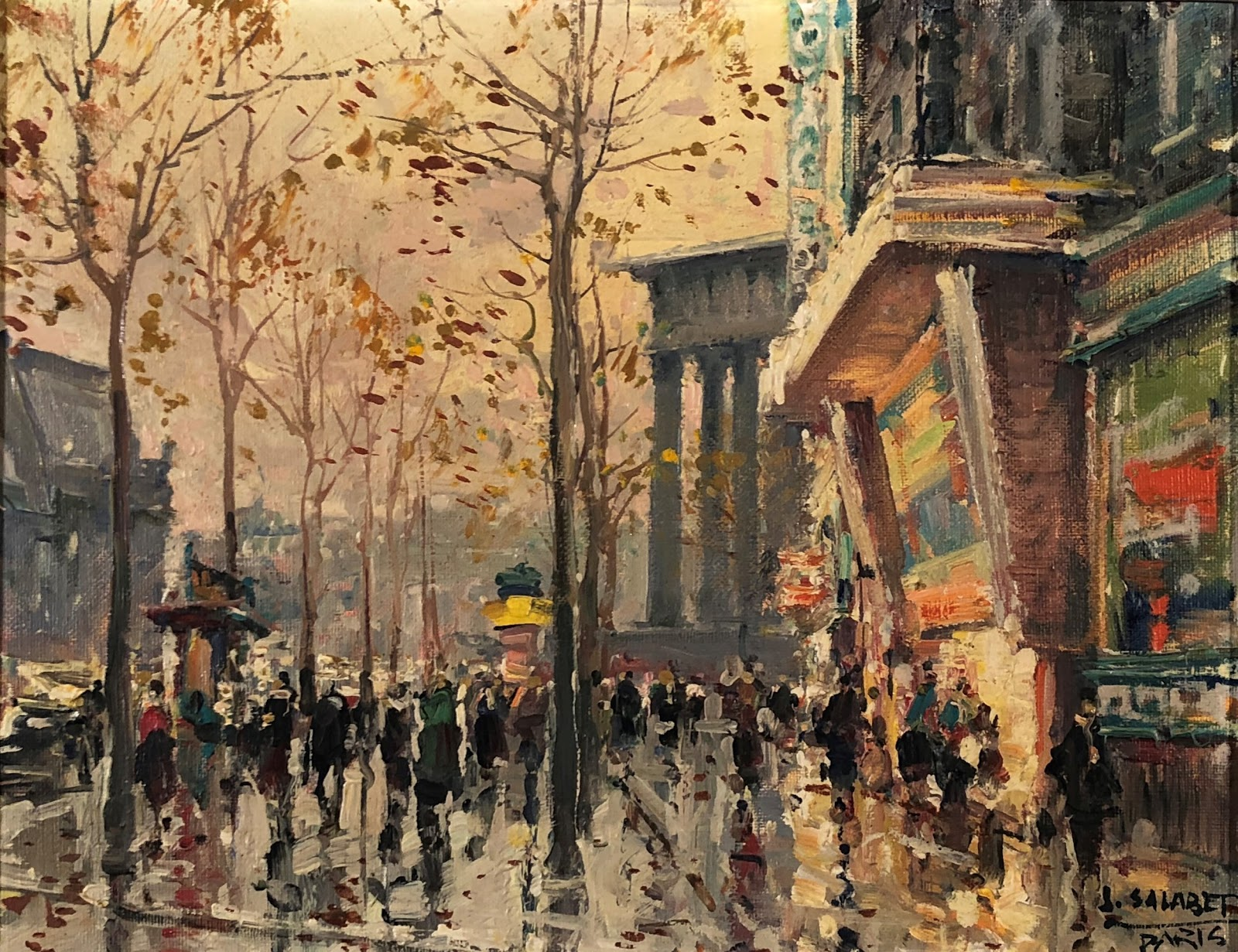 Jean Salabet Paris in the Rain