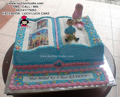 3D Cake Buku - 3D Book Birthday Cake
