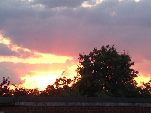The fireball - sunset