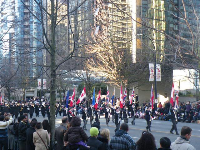 Santa Claus Parade, Vancouver, 2011, music band
