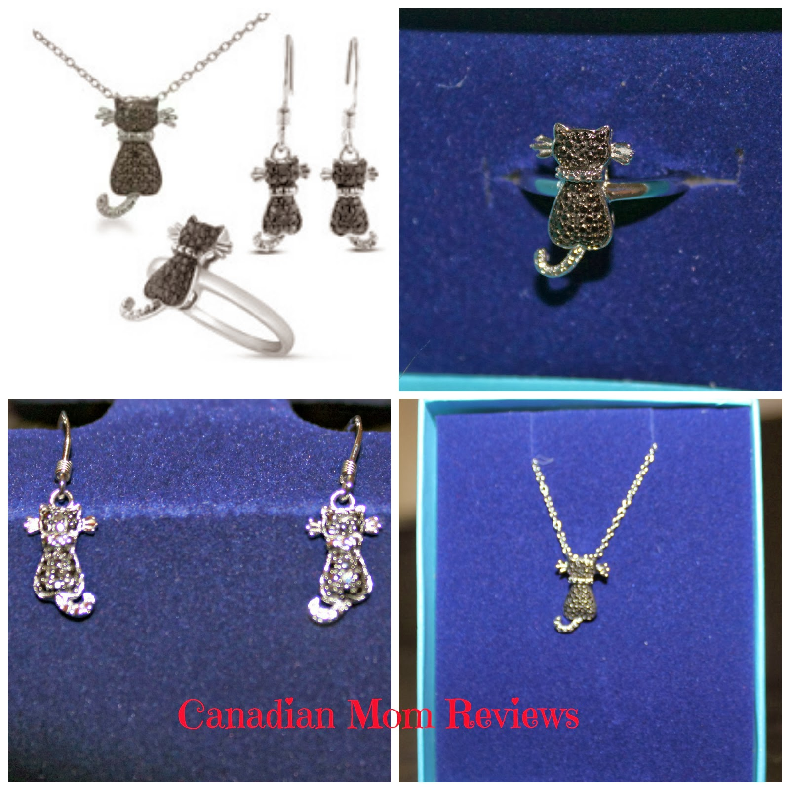 Black Diamond Cat Ensemble from SuperJeweler Review Canadian Mom Reviews