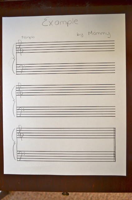 Printable Piano Staff Paper Staff paper to help them