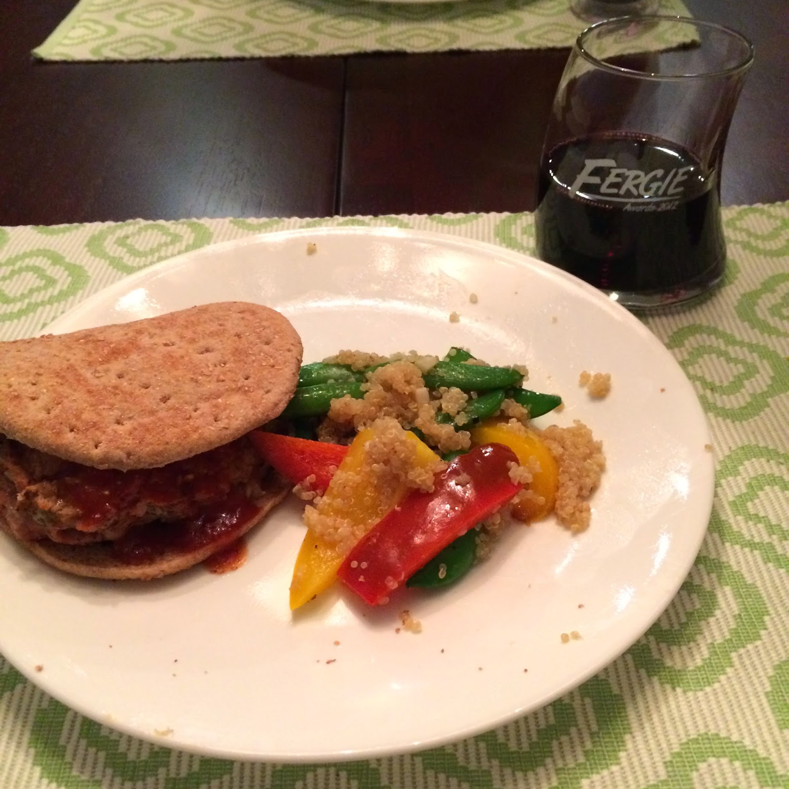 ... Sweet: Goat Cheese Stuffed Turkey Burgers with Tangy Peach BBQ Sauce