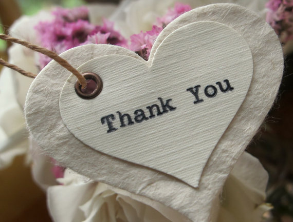 Wedding Favor Tags Thank You : Beautiful Bridal: Wedding Thank You Favor Tags