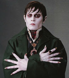 Johnny Depp as vampire Barnabas Collins from 'Dark Shadows'