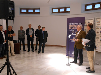 Inauguración de la Exposición Filatélica Ferrocarril de la Marina, Alicante