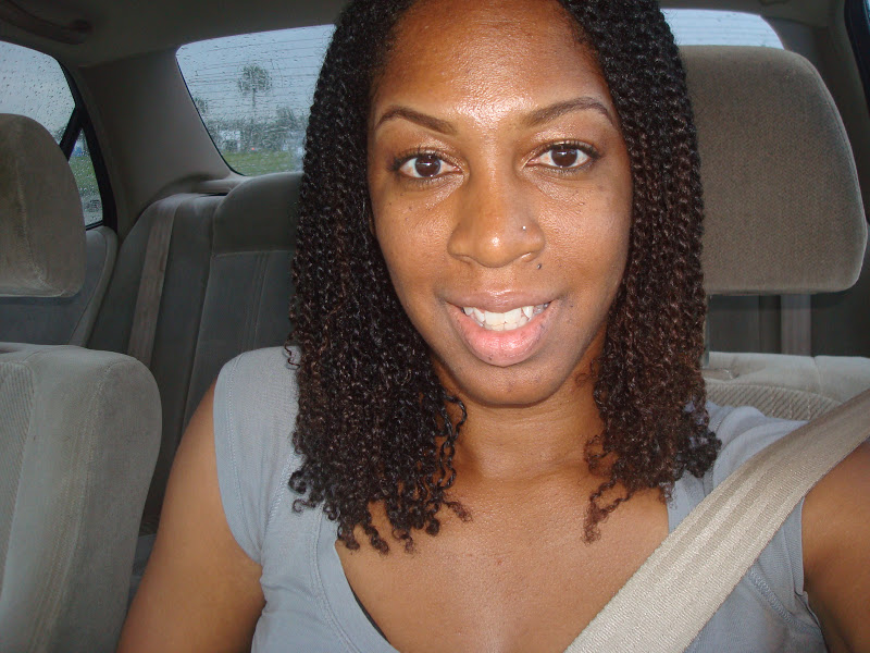 Washing hair in two strand twists