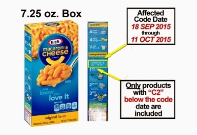 image March 2015 Kraft Dinner Recalled Only products with C2 below the code date