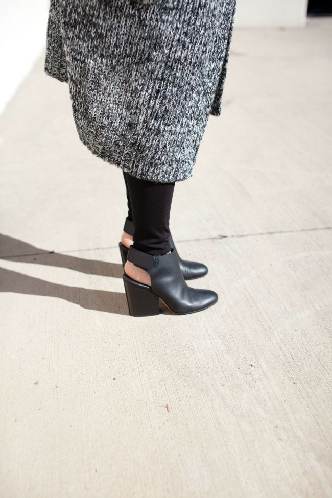 Fall layering, Black boots