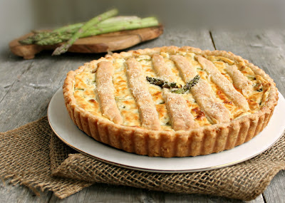 Asparagus and Goat Cheese Tart with Flaky Cream Cheese Pastry