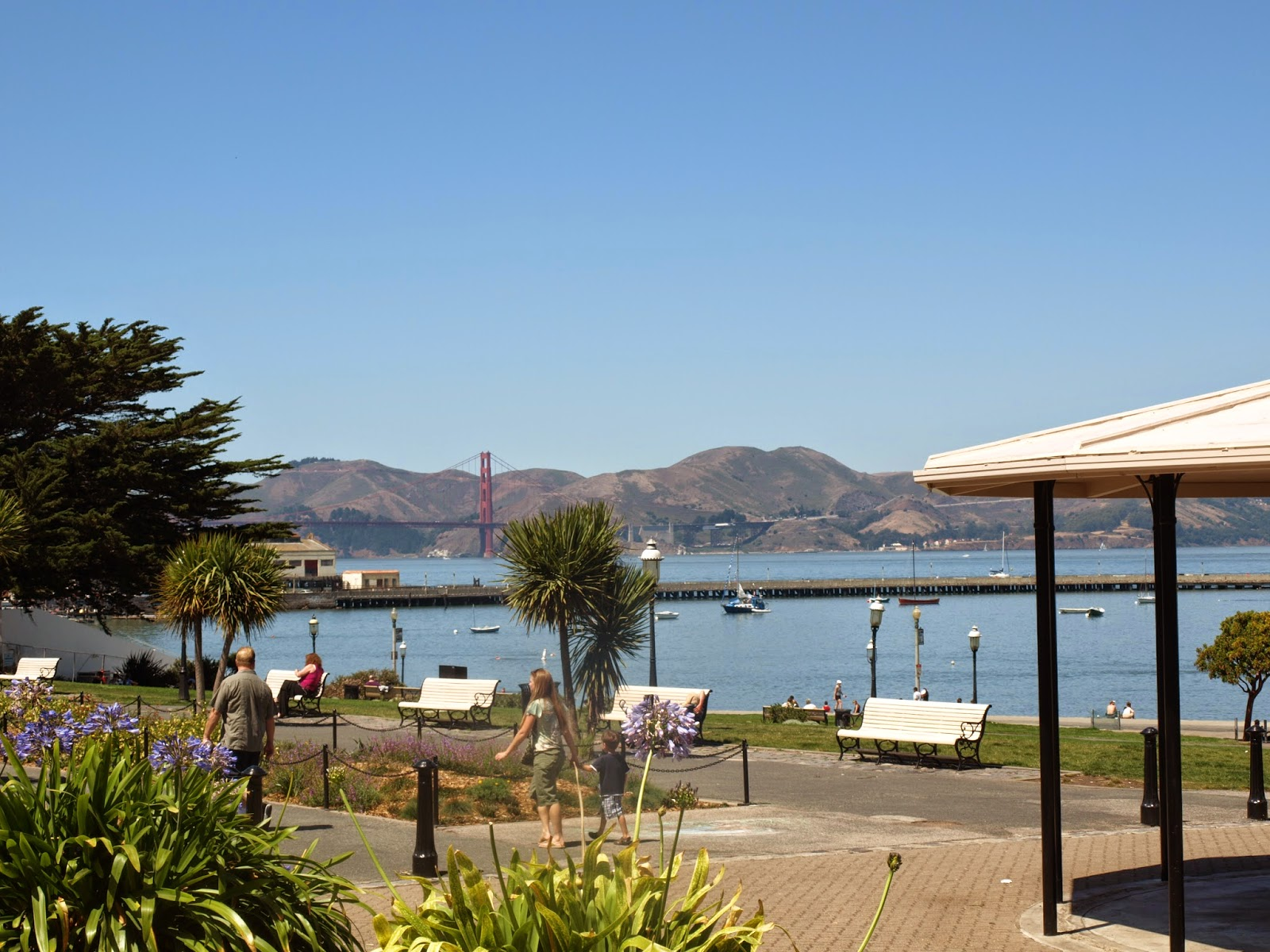 View of Golden Gate from the Marina Green