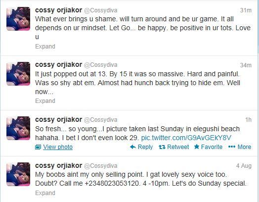 'My Big Boobs Brought Me Shame' - Cossy Orjiakor