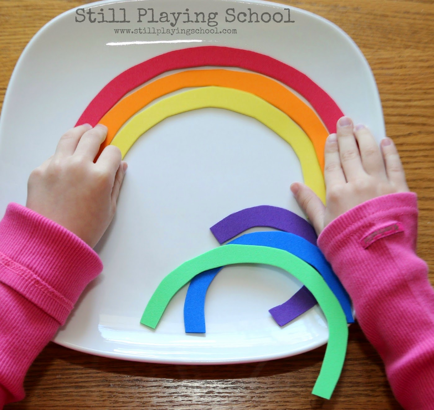 Rainbow colors in order pictures - I Cut The Color Arcs From Craft Foam This Puzzle Would Be Entertaining And Educational For Kids Left As It Is To Learn Colors And Rainbow Order