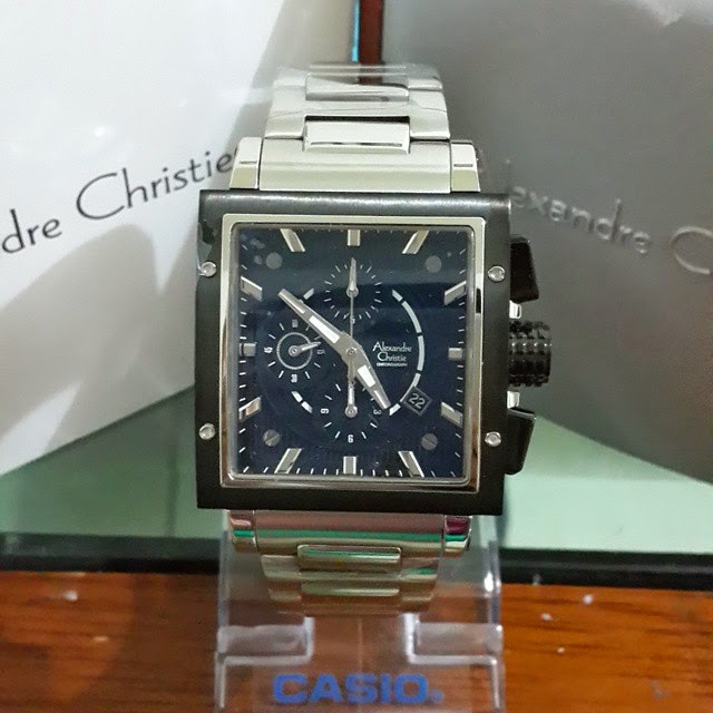jam tangan alexandre christie 6182 silver black