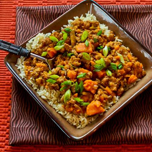 Slow Cooker Sweet and Spicy Ground Turkey and Sweet Potato Stew from ...