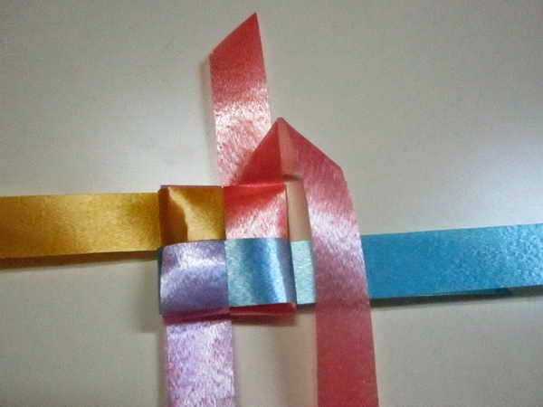 diy fold weave rose ribbon put coin decoration ceremony