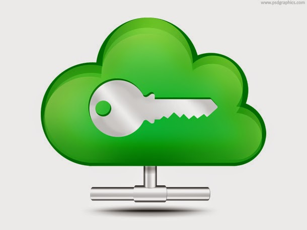 Secure Cloud Storage Icon PSD