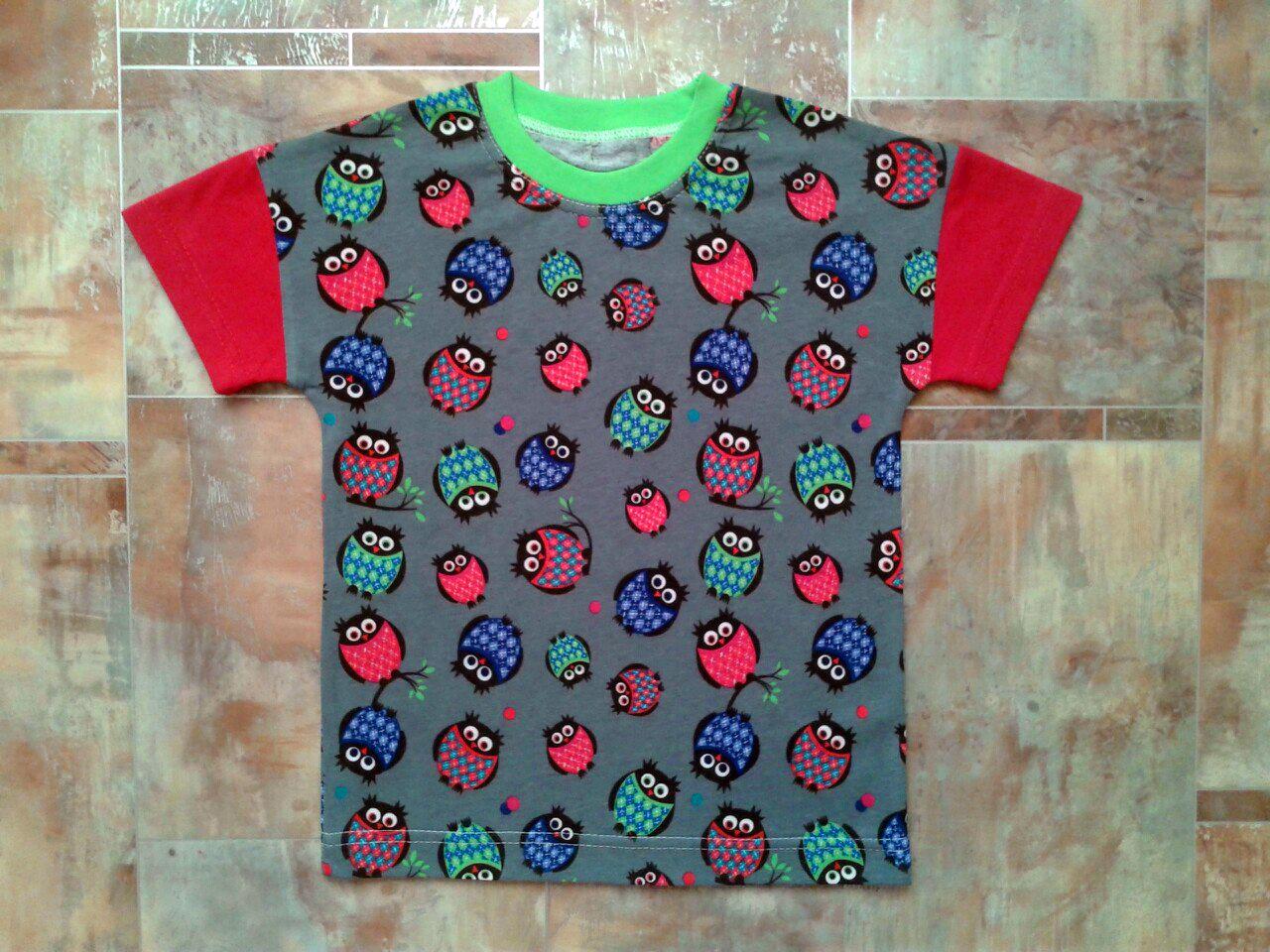 Выкройка детская футболка реглан