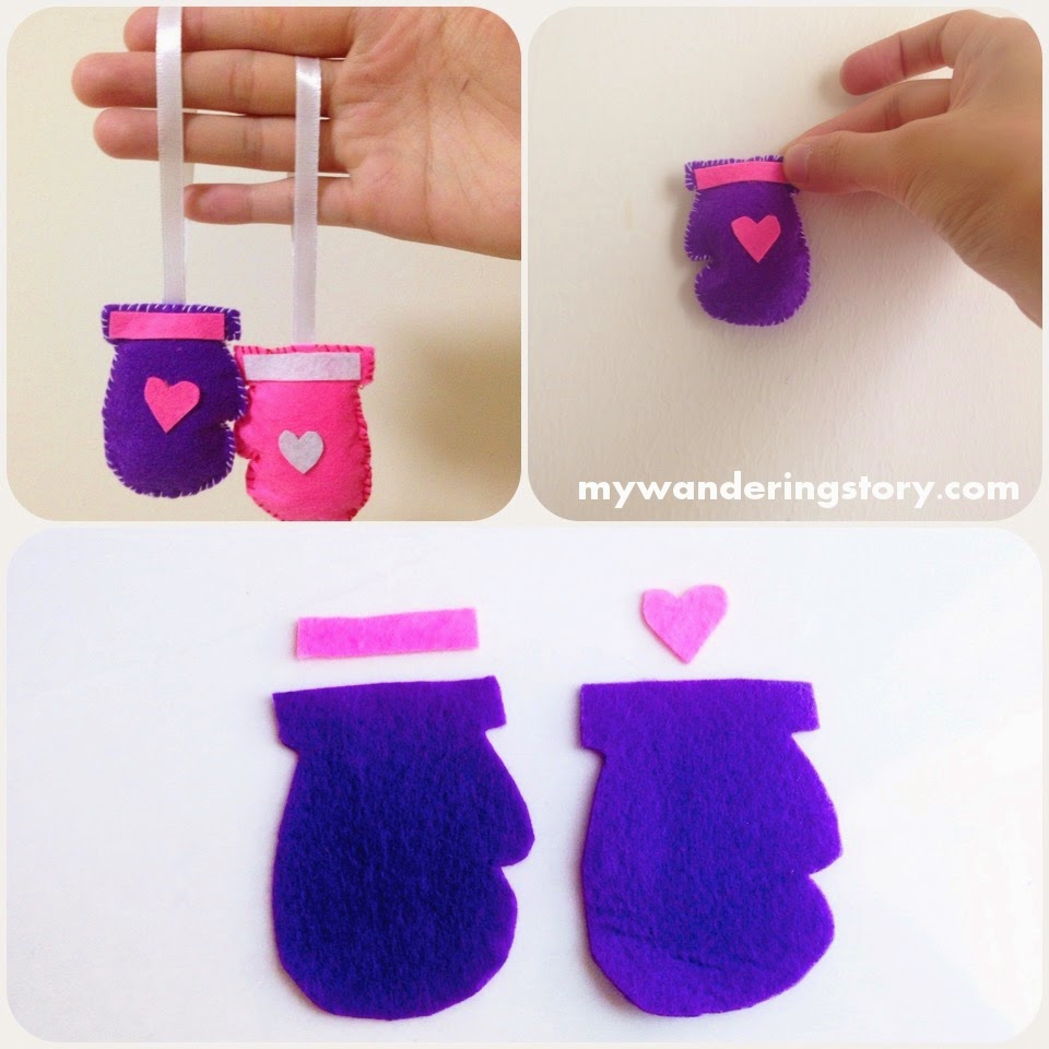 Mitten christmas decorations - Making Snow Mittens For Christmas Decorations