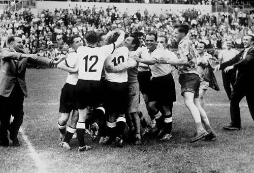 Comemoração alemã final da copa de 1954