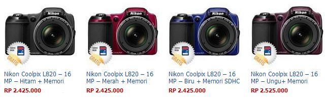 Harga Kamera Nikon Coolpix L820