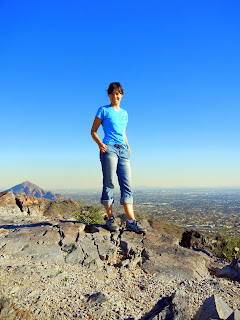 At the top of the Piestewa Peak