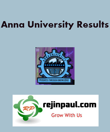Anna University UG PG Review Results 2013
