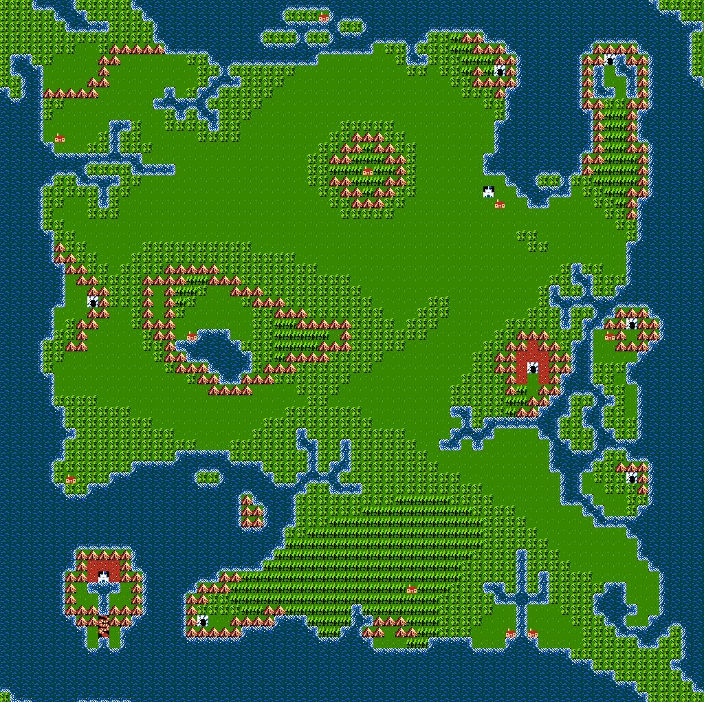 8Bit City Ultima III Exodus World Map