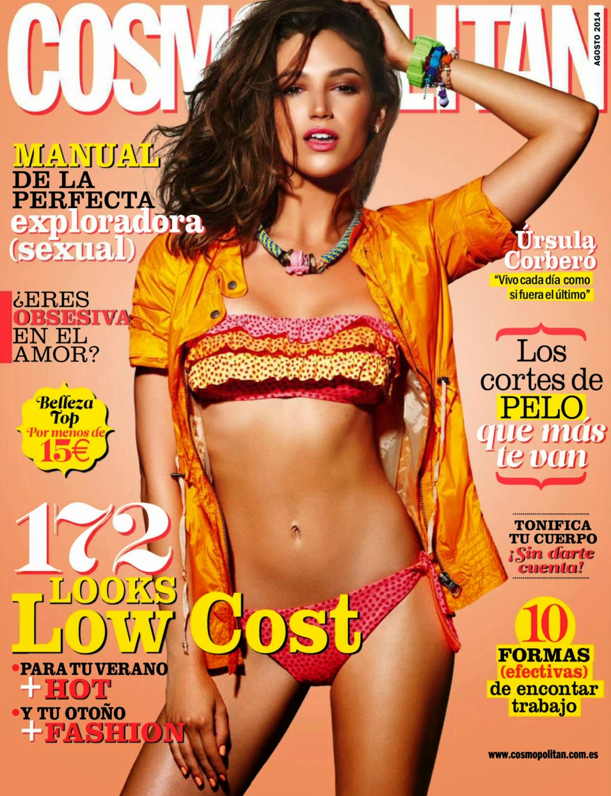 Ursula Corbero - Cosmopolitan Magazine, Spain, August 2014