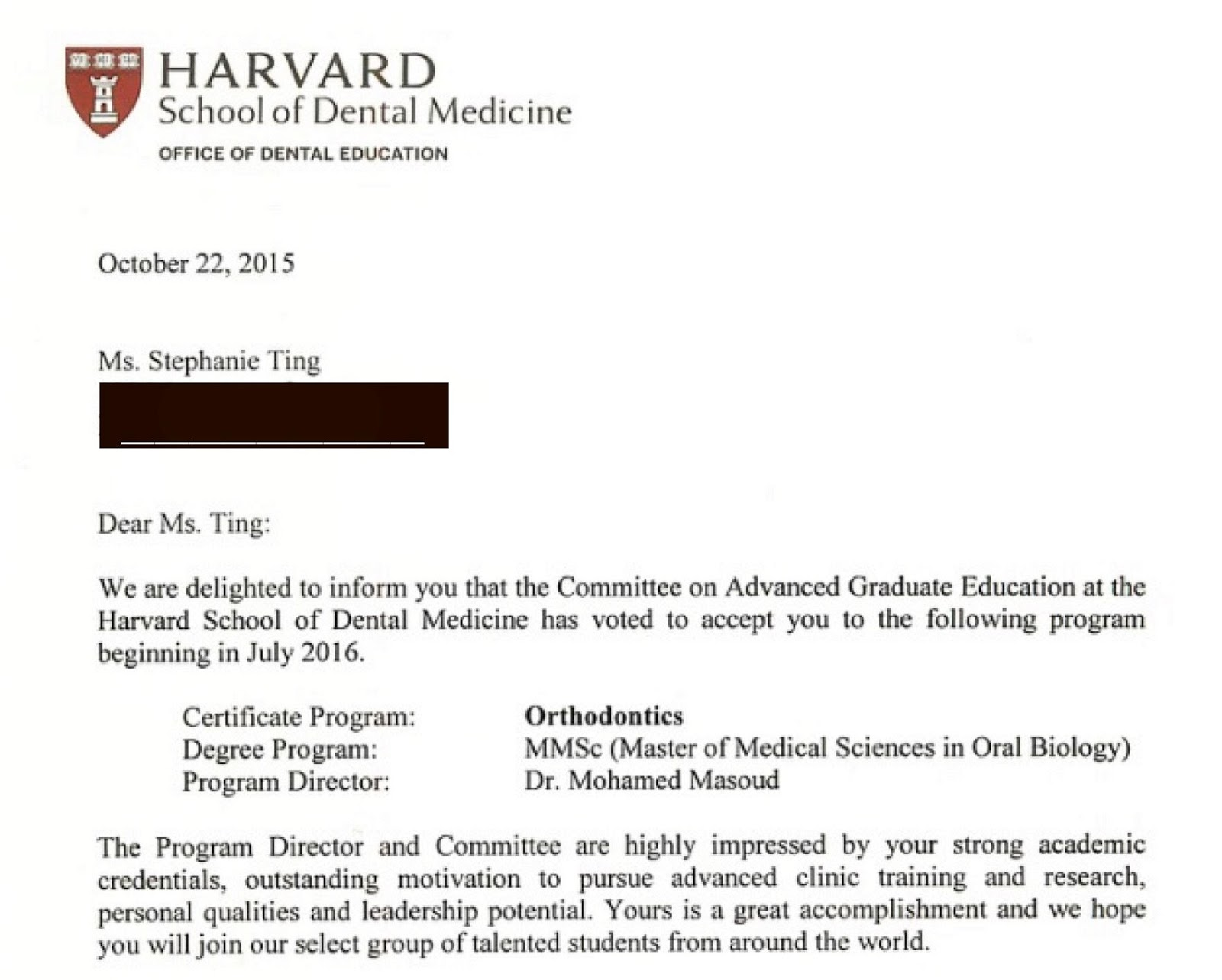 Harvard Dental School Letter Of Recommendation  EczaSolinfCo