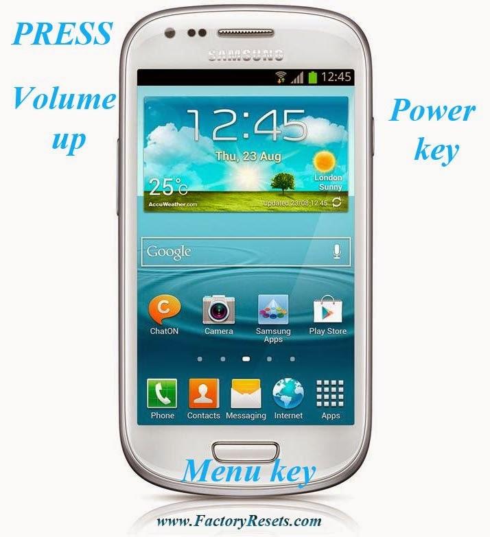 Hard Reset Samsung I8200 Galaxy S3 mini