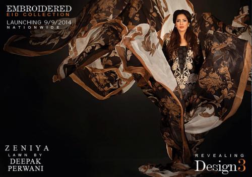 Zeniya Eid Embroidered Lawn Collection 2014