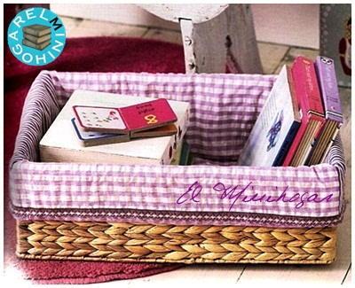 El minihogar - Como forrar cestas de mimbre ...