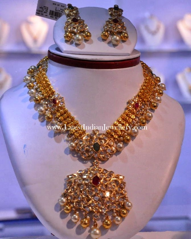 pachi work gold bridal necklace