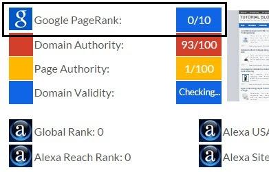 Cek Page Rank dengan PageRank Checker