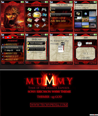 game hp nokia The Mummy : Tomb Of The Dragon Emperor