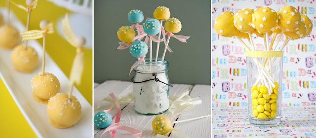 cake pops amarillos cumpleaños infantil mi boda gratis